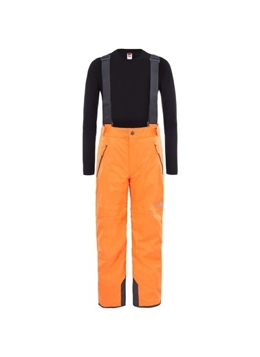The North Face Youth Snowquest Suspender Plus Pantolon Turuncu Oranj